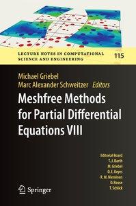 Meshfree Methods for Partial Differential Equations VIII
