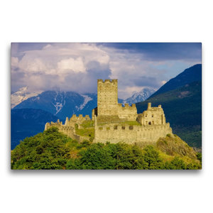 Premium Textil-Leinwand 75 cm x 50 cm quer Castello di Cly