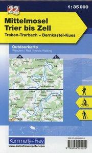 KuF Deutschland Outdoorkarte 22 Mittelmosel - Trier bis Zell 1 :
