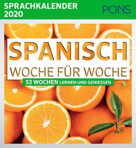 PONS Sprachkalender 2020 Spanisch Woche für Woche