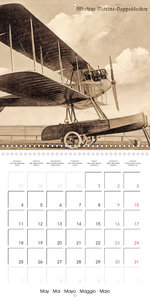Biplanes on historic postcards