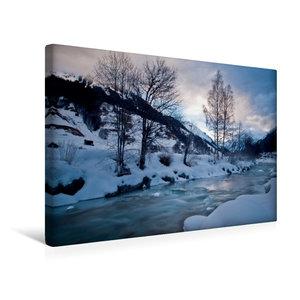 Premium Textil-Leinwand 45 cm x 30 cm quer Frostiger Winter