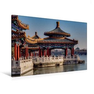 Premium Textil-Leinwand 120 cm x 80 cm quer Fünf Drachen Tempel