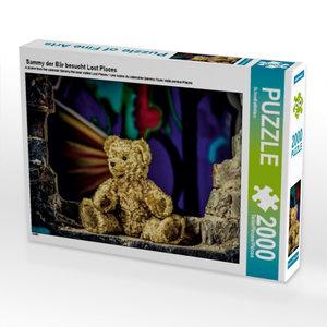Sammy der Bär besucht Lost Places 2000 Teile Puzzle quer