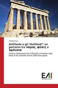"""Antifonte o gli \""""Antifonti\"""": un percorso tra ni_mi__, __s__ e"""