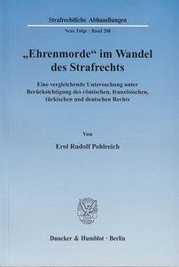 """""""Ehrenmorde"""" im Wandel des Strafrechts"""