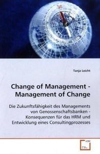 Change of Management - Management of Change
