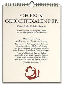 Gedichtekalender Kleiner Bruder 2015