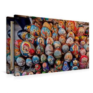 Premium Textil-Leinwand 90 cm x 60 cm quer Arbat, Fußgängerzone,