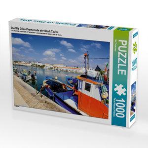 Die Rio Gilao Promenade der Stadt Tavira 1000 Teile Puzzle quer