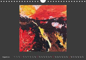 Abstraktionen auf Leinwand (Wandkalender 2019 DIN A4 quer)