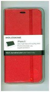 Moleskine Klassisches Etui Im Notizbuchstil für Iphone X, mit St