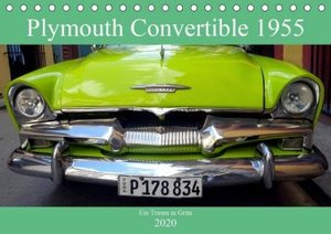 Plymouth Convertible 1955 - Ein Traum in Grün (Tischkalender 202