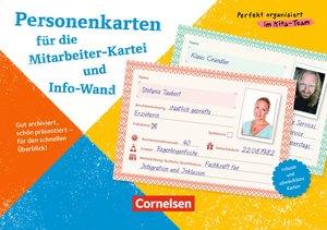 Personenkarten für Mitarbeiter-Kartei und Info-Wand