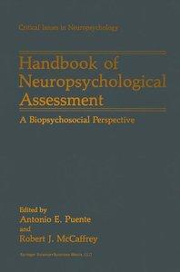 Handbook of Neuropsychological Assessment