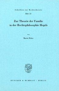 Zur Theorie der Familie in der Rechtsphilosophie Hegels