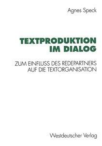 Textproduktion im Dialog