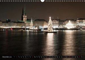 Hamburg bei Nacht (Wandkalender 2018 DIN A3 quer)