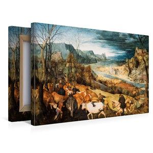 Premium Textil-Leinwand 45 cm x 30 cm quer Heimkehr der Herde (H