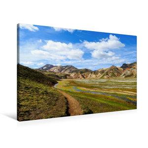 Premium Textil-Leinwand 90 cm x 60 cm quer Laugarvegur-Trail Isl