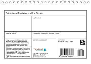 Dolomiten - Rundreise um Drei Zinnen (Tischkalender 2019 DIN A5