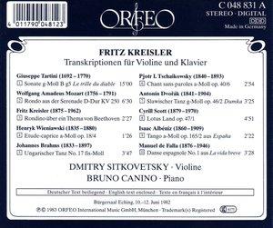 Transkriptionen für Violine und Klavier