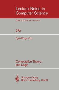 Computation Theory and Logic