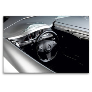Premium Textil-Leinwand 120 cm x 80 cm quer Stirling Moss