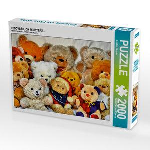 CALVENDO Puzzle TEDDYBÄR, OH TEDDYBÄR... 2000 Teile Lege-Größe 9