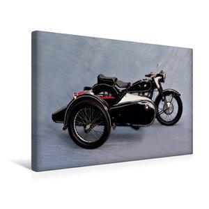 Premium Textil-Leinwand 45 cm x 30 cm quer BMW R51/3 Baujahr 195