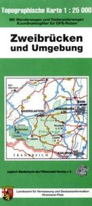 Zweibrücken und Umgebung 1 : 25 000. Naturparkkarte P17