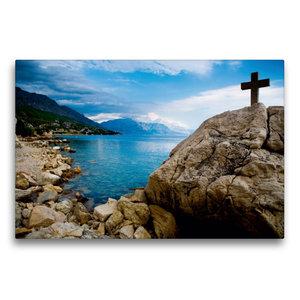 Premium Textil-Leinwand 75 cm x 50 cm quer Adriatische Küste bei