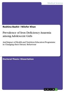 Prevalence of Iron Deficiency Anaemia among Adolescent Girls