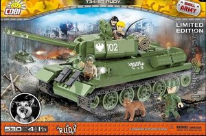 COBI Small Army 2486 - Panzer Rudy 102 T-34/85, Limited Edition
