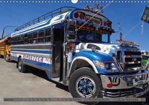 Land der bunten Busse - Guatemala (Wandkalender 2019 DIN A3 quer