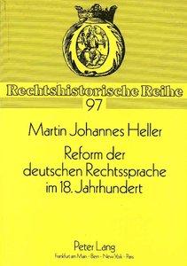 Reform der deutschen Rechtssprache im 18. Jahrhundert