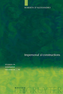 "Impersonal ""si"" constructions"