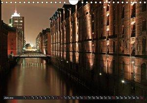 Mein Hamburg - Am schönsten bei Nacht (Wandkalender 2019 DIN A4