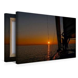 Premium Textil-Leinwand 45 cm x 30 cm quer Sundowner bei Kressbr