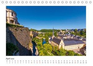 LUXEMBURG Stadt der Kontraste (Tischkalender 2020 DIN A5 quer)