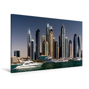 Premium Textil-Leinwand 120 cm x 80 cm quer Dubai Marina - Blick