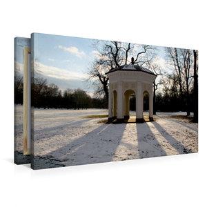 Premium Textil-Leinwand 90 cm x 60 cm quer Tempel im Clara-Zetki