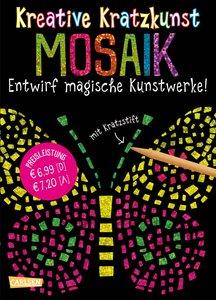 Kreative Kratzkunst: Mosaik: Set mit 10 Kratzbildern, Anleitungs