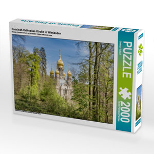 Russisch-Orthodoxe Kirche in Wiesbaden 2000 Teile Puzzle quer