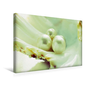 Premium Textil-Leinwand 45 cm x 30 cm quer Innere Perlen