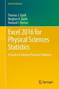 Excel 2016 for Physical Sciences Statistics