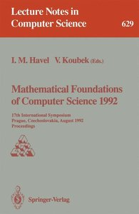 Mathematical Foundations of Computer Science 1992