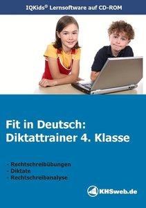 Fit in Deutsch: Diktattrainer. 4. Klasse. CD-ROM für Windows 95/