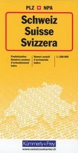 KuF Schweiz Postleitzahlenkte 1 : 260 000. Postleitzahlenkarte