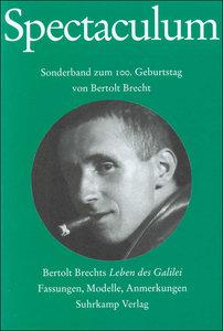 Spectaculum 65. Sonderband zum 100. Geburtstag von Bertolt Brech